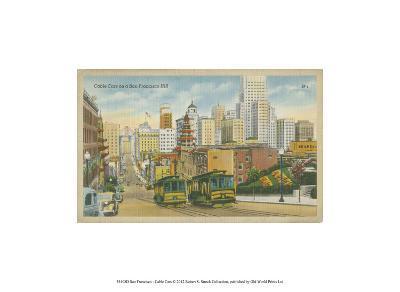San Francisco- Cable Cars--Art Print