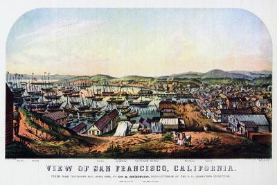 San Francisco, California, 1850-Nathaniel Currier-Giclee Print