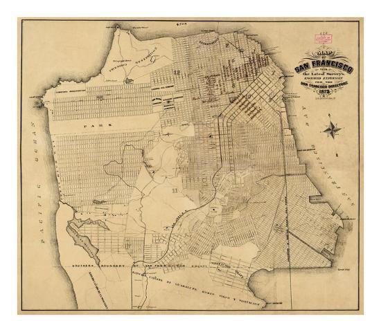 San Francisco, California, c.1873-Henry G^ Langley-Art Print