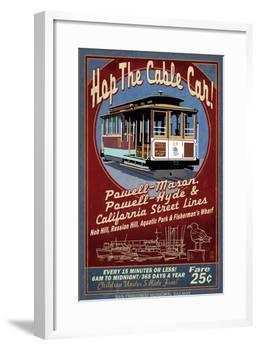 San Francisco, California - Cable Car-Lantern Press-Framed Art Print