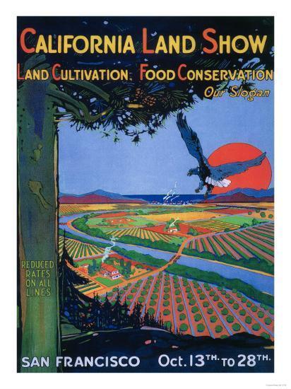 San Francisco, California - California Land Show-Lantern Press-Art Print