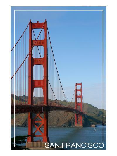 San Francisco, California - Golden Gate Bridge Day-Lantern Press-Art Print