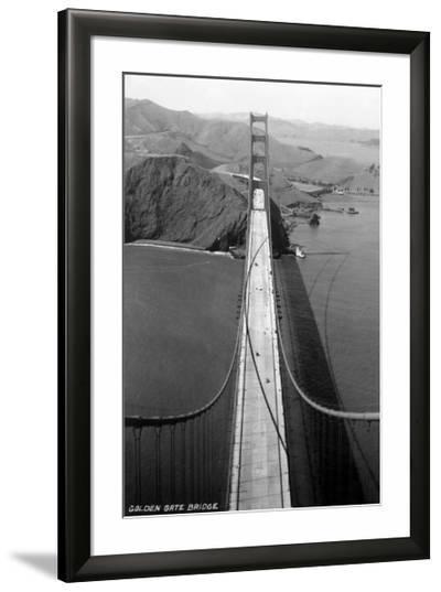 San Francisco, California - Golden Gate Bridge from Bridge Pinnacle-Lantern Press-Framed Giclee Print