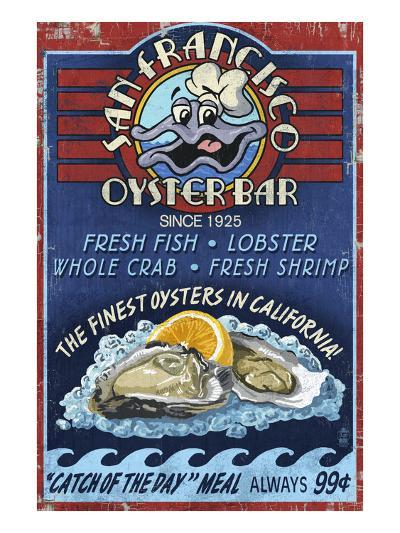 San Francisco, California - Oyster Bar-Lantern Press-Art Print