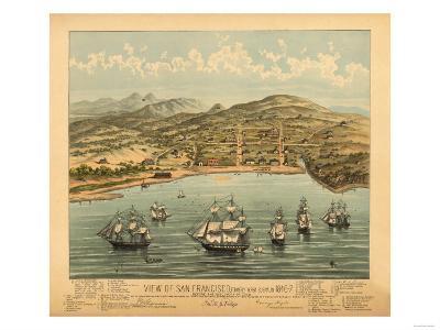 San Francisco, California - Panoramic Map No. 1-Lantern Press-Art Print
