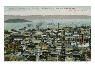 San Francisco, California - Panoramic View a Year after 1906 Fire-Lantern Press-Art Print