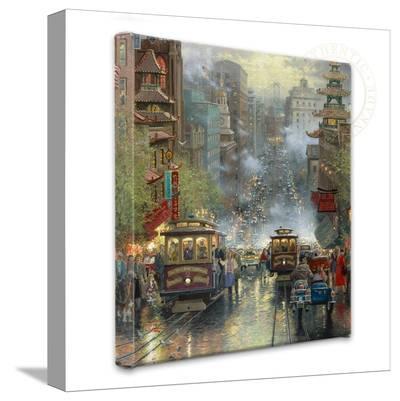 San Francisco, California Street-Thomas Kinkade-Gallery Wrapped Canvas