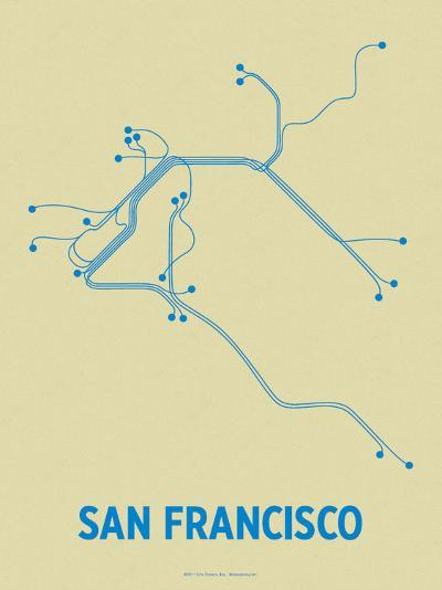 San Francisco (Cement & Blue)-LinePosters-Serigraph