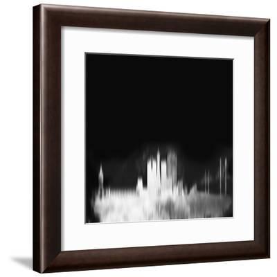 San Francisco City Skyline - White-NaxArt-Framed Art Print