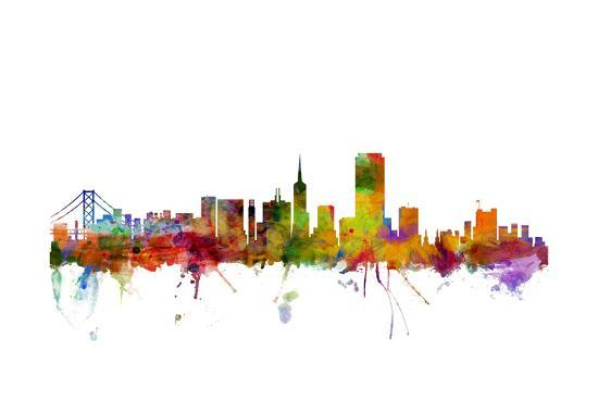 1b561ce6f5f San Francisco City Skyline Art Print by Michael Tompsett