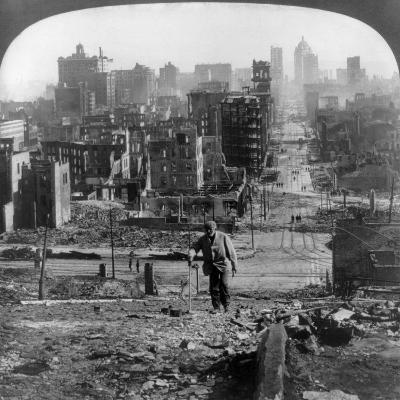 San Francisco Earthquake--Giclee Print