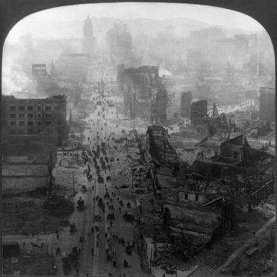San Francisco Earthquake--Giclee Print