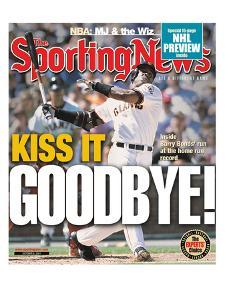 San Francisco Giants OF Barry Bonds - October 8, 2001