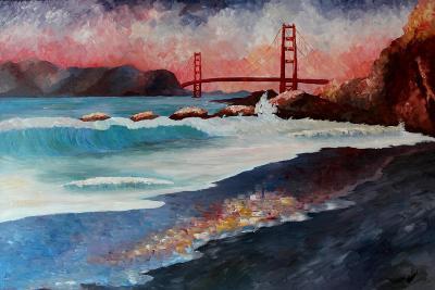 San Francisco Golden Gate at Dawn-Markus Bleichner-Art Print
