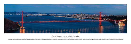 San Francisco - Golden Gate at Night - Unframed-Christopher Gjevre-Art Print
