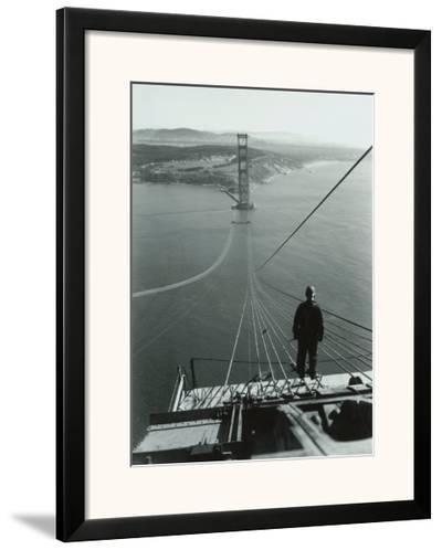 San Francisco, Golden Gate Bridge Construction--Framed Giclee Print