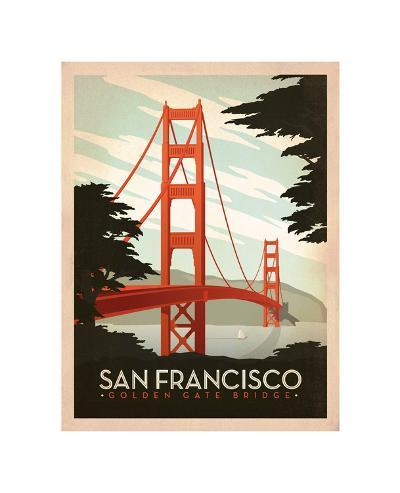 San Francisco: Golden Gate Bridge-Anderson Design Group-Giclee Print