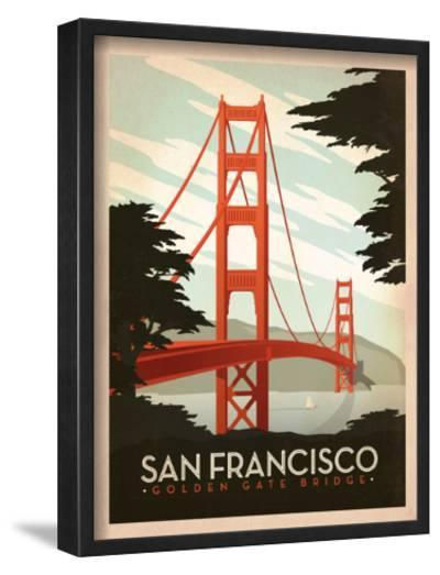 San Francisco: Golden Gate Bridge-Anderson Design Group-Framed Giclee Print