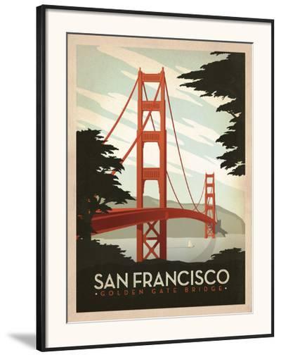 San Francisco: Golden Gate Bridge-Anderson Design Group-Framed Art Print