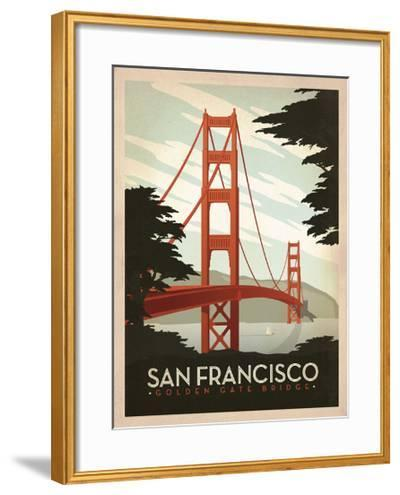 San Francisco: Golden Gate Bridge-Anderson Design Group-Framed Art Print