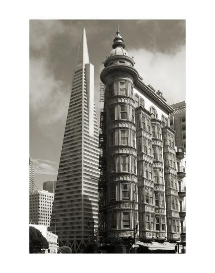 San Francisco Iconic Buildings-Christian Peacock-Art Print