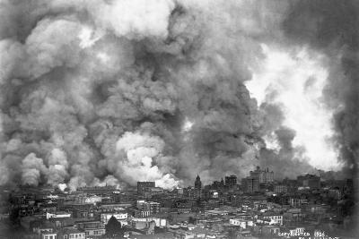 San Francisco in Flames-A.L. Murat-Photographic Print