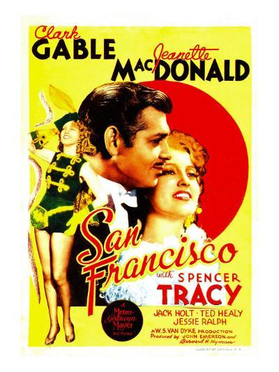 San Francisco, Jeanette Macdonald, Clark Gable, Jeanette Macdonald on Midget Window Card, 1936--Photo