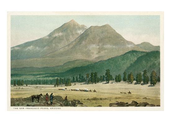 San Francisco Peaks, Arizona--Art Print