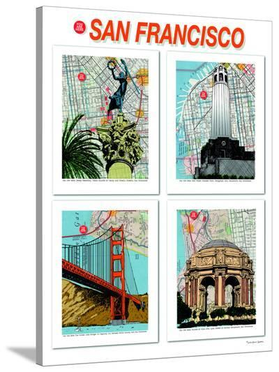 San Francisco Poster--Stretched Canvas Print