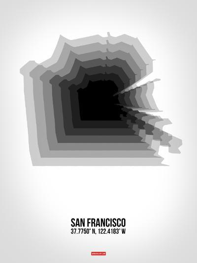 San Francisco Radiant Map 4-NaxArt-Art Print