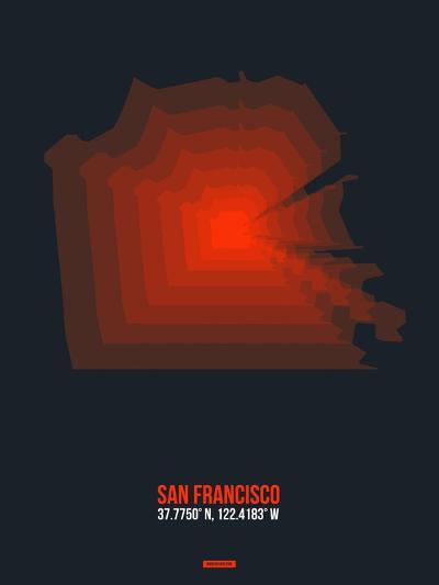 San Francisco Radiant Map 5-NaxArt-Art Print