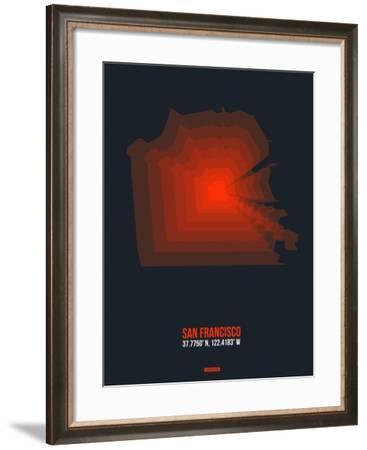 San Francisco Radiant Map 5-NaxArt-Framed Art Print