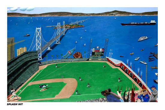 San Francisco - Splash Hit-Mark Ulriksen-Art Print