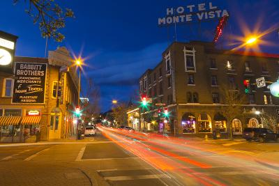 San Francisco Street at Dusk in Historic Downtown Flagstaff, Arizona, USA-Chuck Haney-Photographic Print
