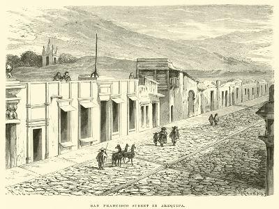 San Francisco Street in Arequipa-?douard Riou-Giclee Print
