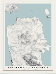 San Francisco Topographical Print