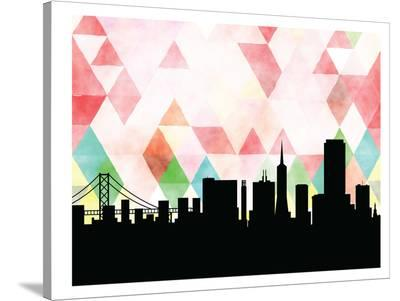 San Francisco Triangle-Paperfinch 0-Stretched Canvas Print