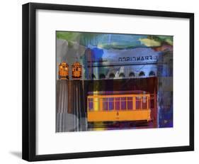 San Francisco Trolley Car-Sisa Jasper-Framed Art Print