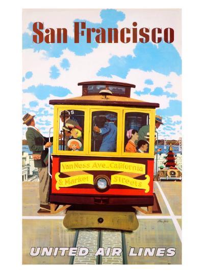 San Francisco United Air Lines--Giclee Print