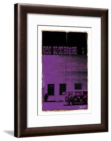San Francisco, Vice City in Purple-Pascal Normand-Framed Art Print
