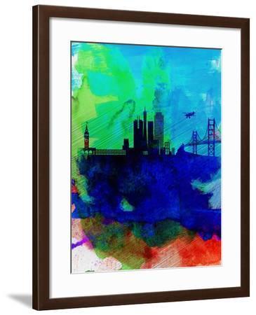 San Francisco Watercolor Skyline 2-NaxArt-Framed Art Print