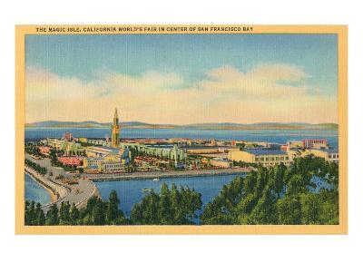 San Francisco World's Fair, Magic Isle--Art Print