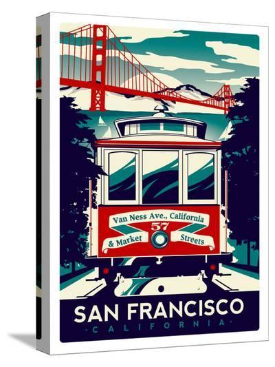 San Francisco-Matthew Schnepf-Stretched Canvas Print