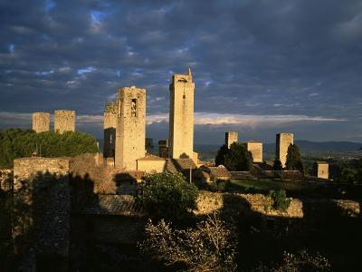 San Gimignano, Unesco World Heritage Site, Tuscany, Italy-Bruno Morandi-Photographic Print