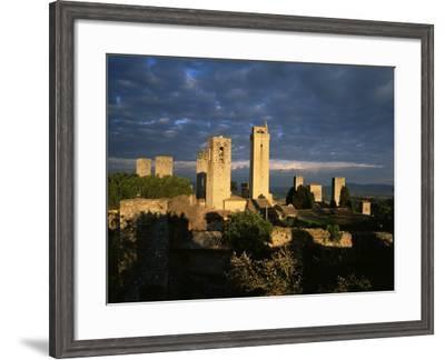 San Gimignano, Unesco World Heritage Site, Tuscany, Italy-Bruno Morandi-Framed Photographic Print
