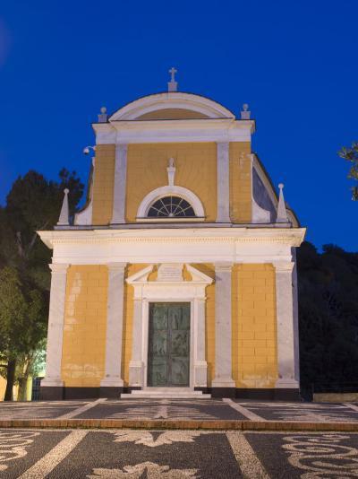 San Giorgio Church, Portofino, Liguria, Italy-Sergio Pitamitz-Photographic Print
