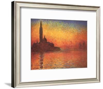 San Giorgio Maggiore by Twilight, c.1908-Claude Monet-Framed Art Print