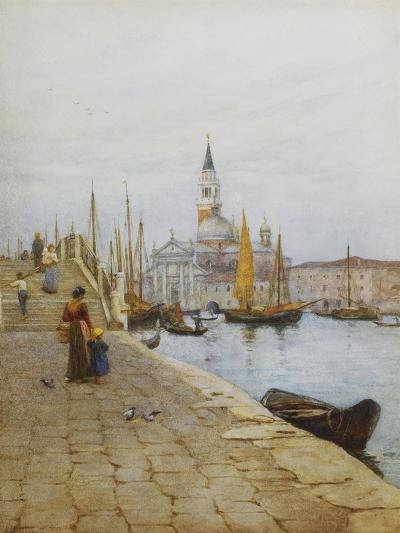 San Giorgio Maggiore from the Zattere, Venice-Helen Allingham-Giclee Print