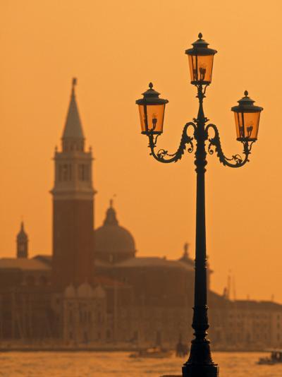 San Giorgio Maggiore, Grand Canal at Sunset, Venice, Italy-Jon Arnold-Photographic Print