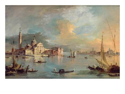 San Giorgio Maggiore, Venice, with the Giudecca and Zitelle-Guardi-Giclee Print